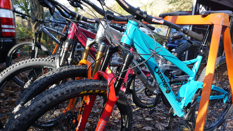 Afan Valley Bike Shed Demo Event orange